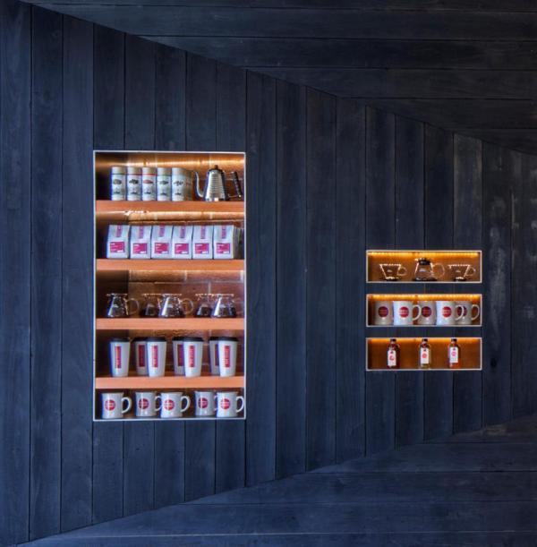 Detail at display shelving, Image Courtesy © Art Gray