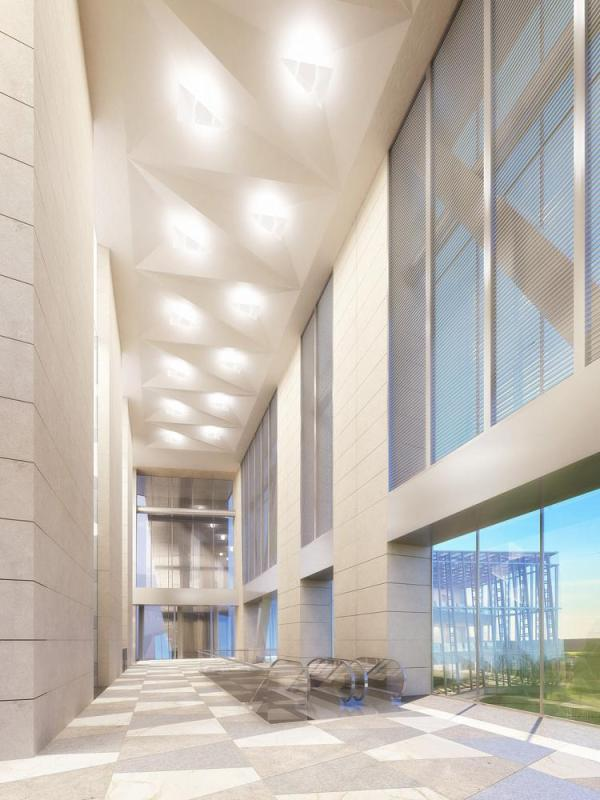 Lobby interior, Image Courtesy © Pei Cobb Freed & Partners