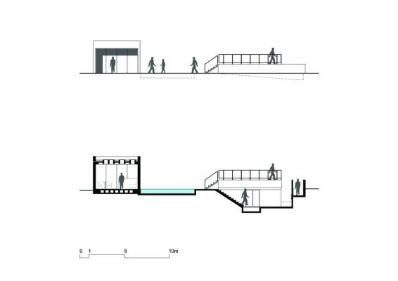 Front Elevation / Cross section , Image Courtesy © BCMF Arquitetos / Mach Arquitetos