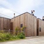 Building facades from major approaches., Image Courtesy © Toshihiro Sobajima