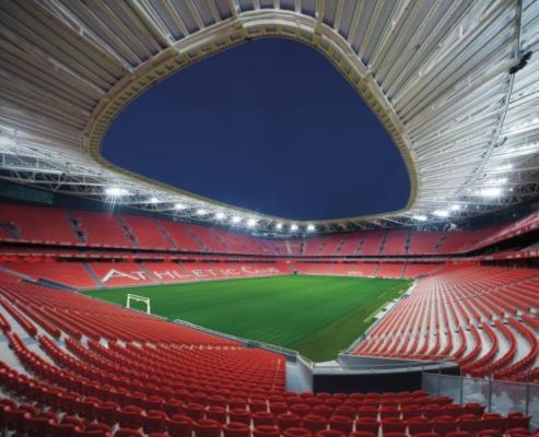 San Mamés Stadium, Spain, by Azcárate (ACXT-IDOM),  Image Courtesy © Azcárate (ACXT-IDOM)