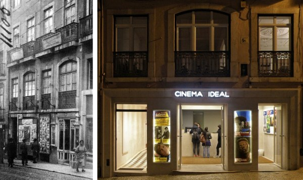 The entrance of the cinema in 1930 and today, Image Courtesy © Fernando Freire