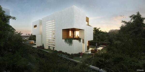 House's exterior view, Image Courtesy © Divercity