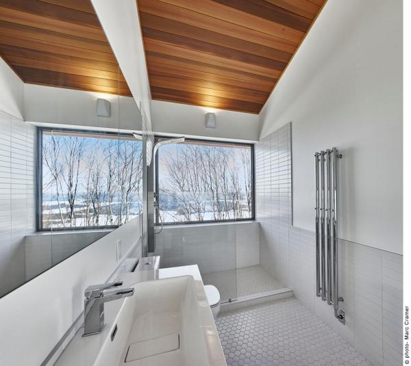 Master bathroom - shower with a view, Image Courtesy © Marc Cramer