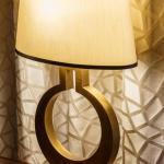 Lamp set against Executive Lounge curtains, Image Courtesy © Gareth Gardner