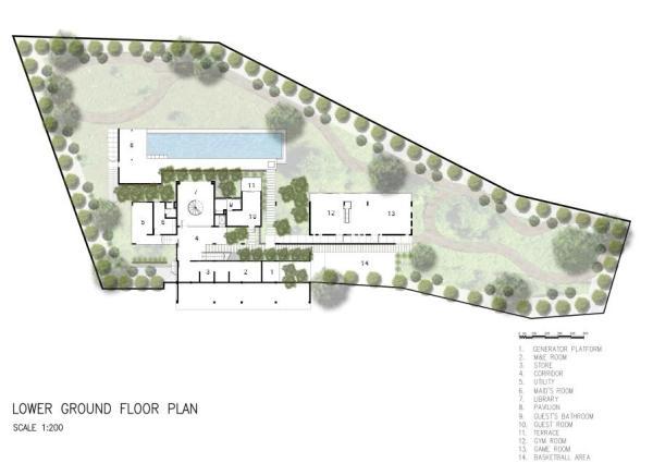 Lower Ground Floor Plan, Image Courtesy © zlgdesign