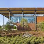 The high-performance, climate-responsive design of the plant administration building will result in net positive energy performance, Image Courtesy © Robert Canfield,