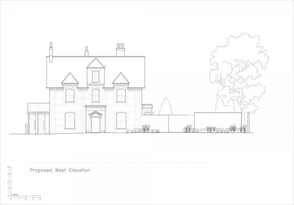 7. Elevations- Proposed West Elevation