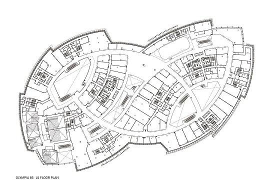 Level 5 floor plan, Image Courtesy © Aedas