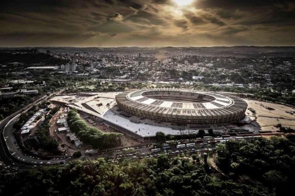 Arial view of Mineirão Stadium in Belo Horizonte, Brazil, Image Courtesy © Alberto Andrich