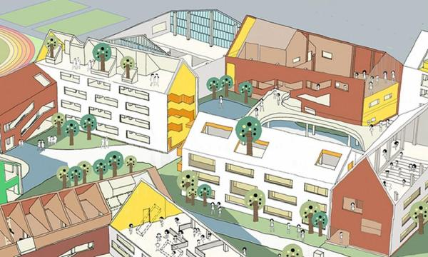 Diagram_Rooftop Activity Space, Image Courtesy © LYCS Architecture