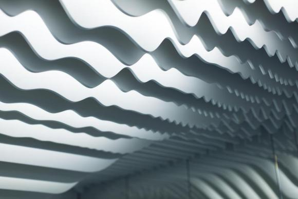 Louvers generate a topographical section, Image Courtesy © Alfonso Calza
