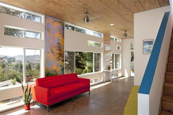 Family Room View 1, Image Courtesy © Jeremy Levine Design