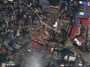 Dharahara Tower, Kathmandu - post earthquake imagery