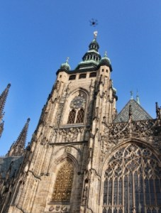 St. Vitus cathedral with UAV