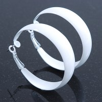 White / Ivory Hoop Earrings - avalaya.com