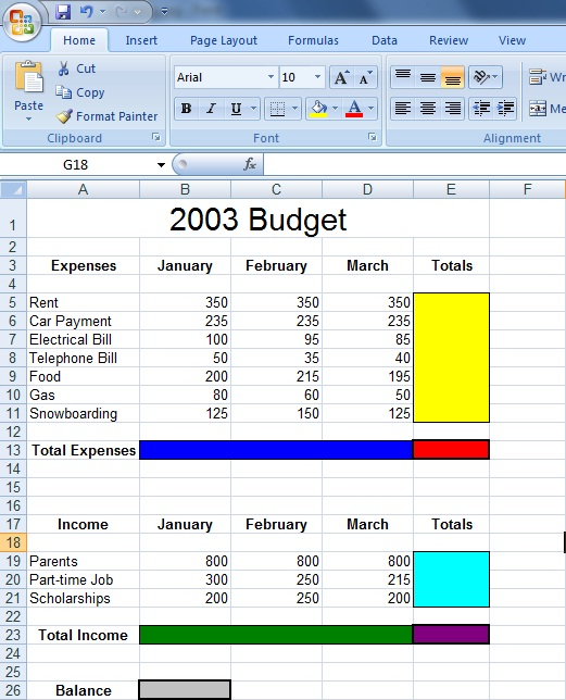 Spreadsheet Exercise #1