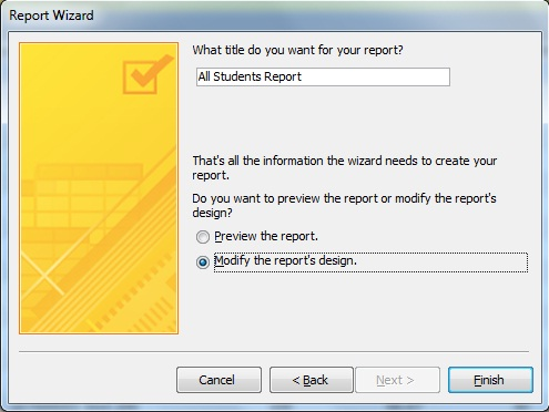 Creating an Access Report
