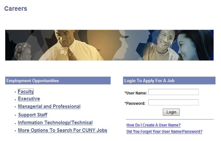 Navigating our Jobs System \u2013 The City University of New York