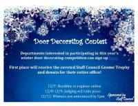 Holiday Door Decorating Contest Flyer | Decoratingspecial.com