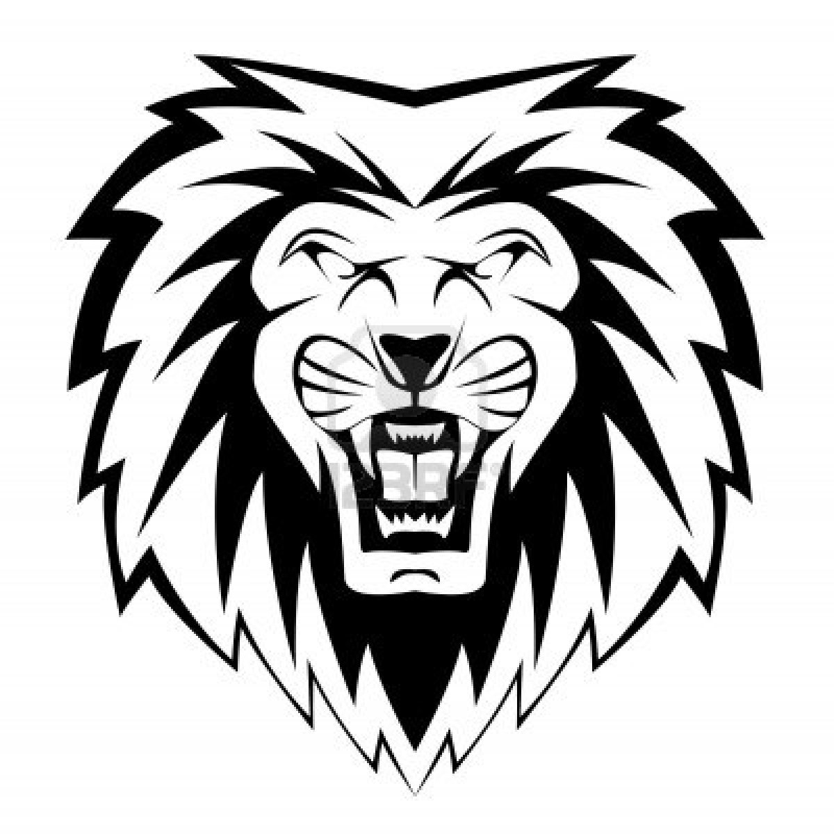 Roaring Lion Clip Art Black And White Coloriages à Imprimer Lion Numéro 64697