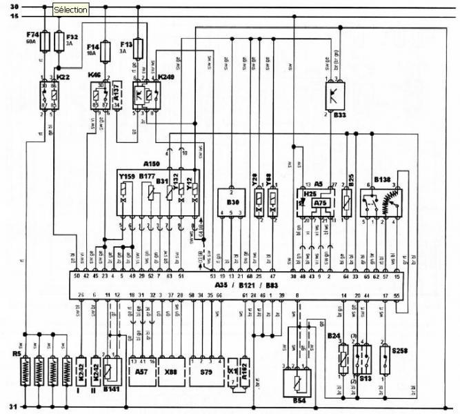 1997 subaru Schema moteur