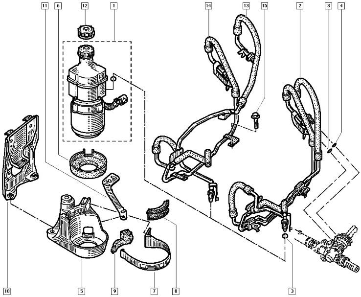 schema moteur fiat punto diesel