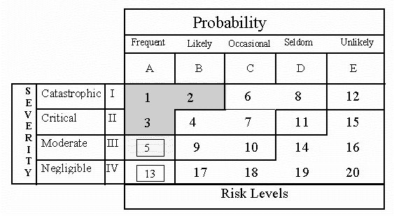Risk Management - Standard Process/Definitions Priority