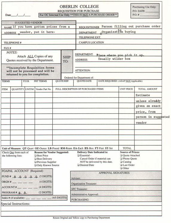 SFC Forms