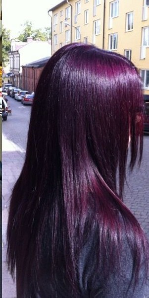 Coloured Hair Roots Deep Magenta Purple Hairstyles That Will Make You Want