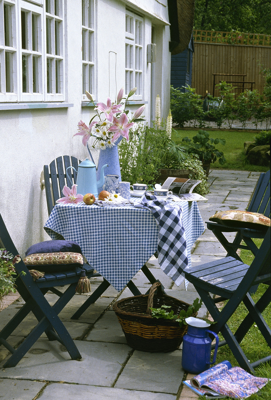 Blue Country Patio Outdoor Patio Design Ideas Lonny