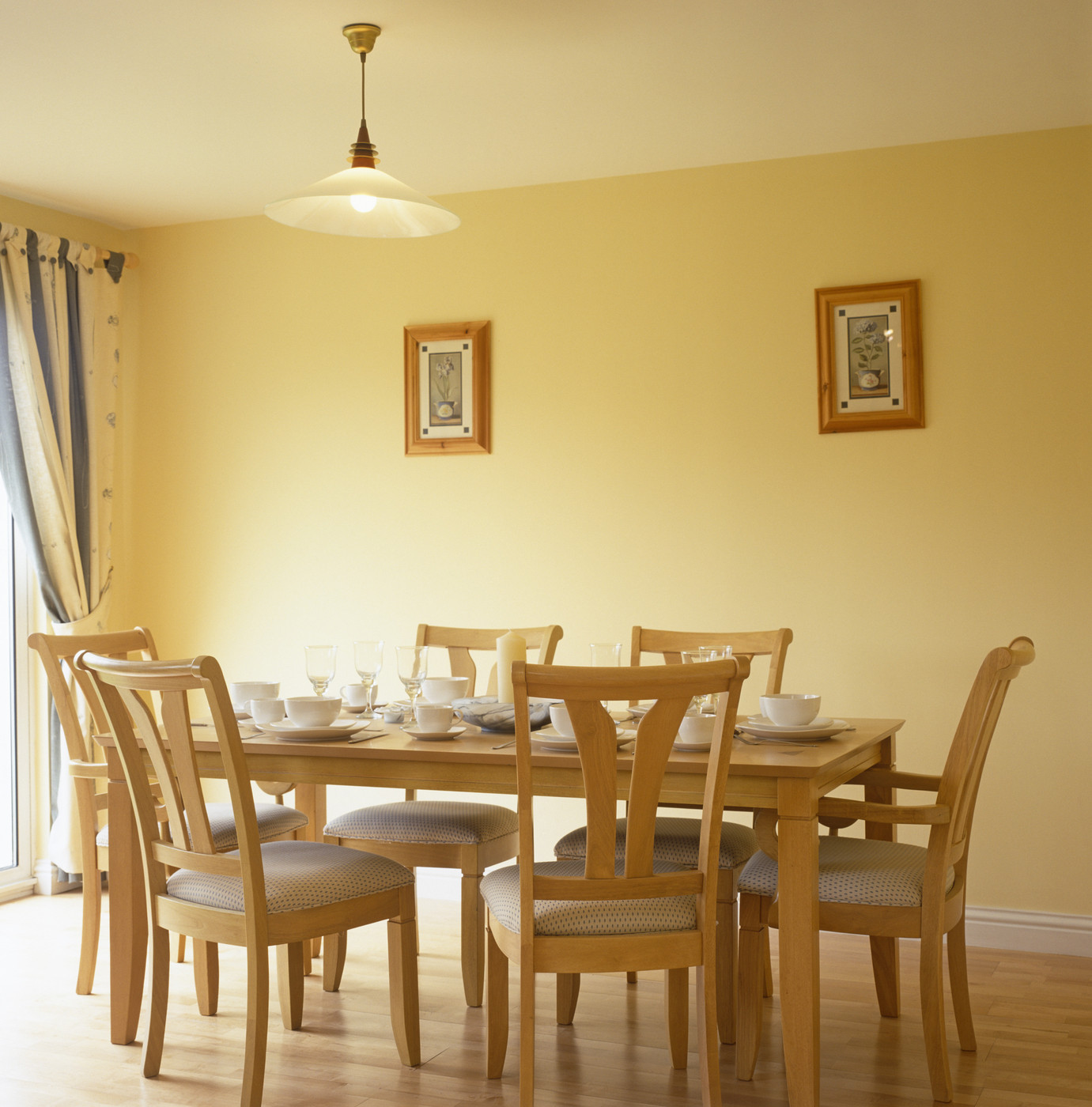 Yellow Dining Room Walls Country Dining Room Dining Room Decorating Ideas Lonny
