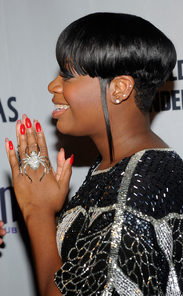 Layered Hairstyles Back Fantasia Barrino Layered Razor Cut Short Hairstyles