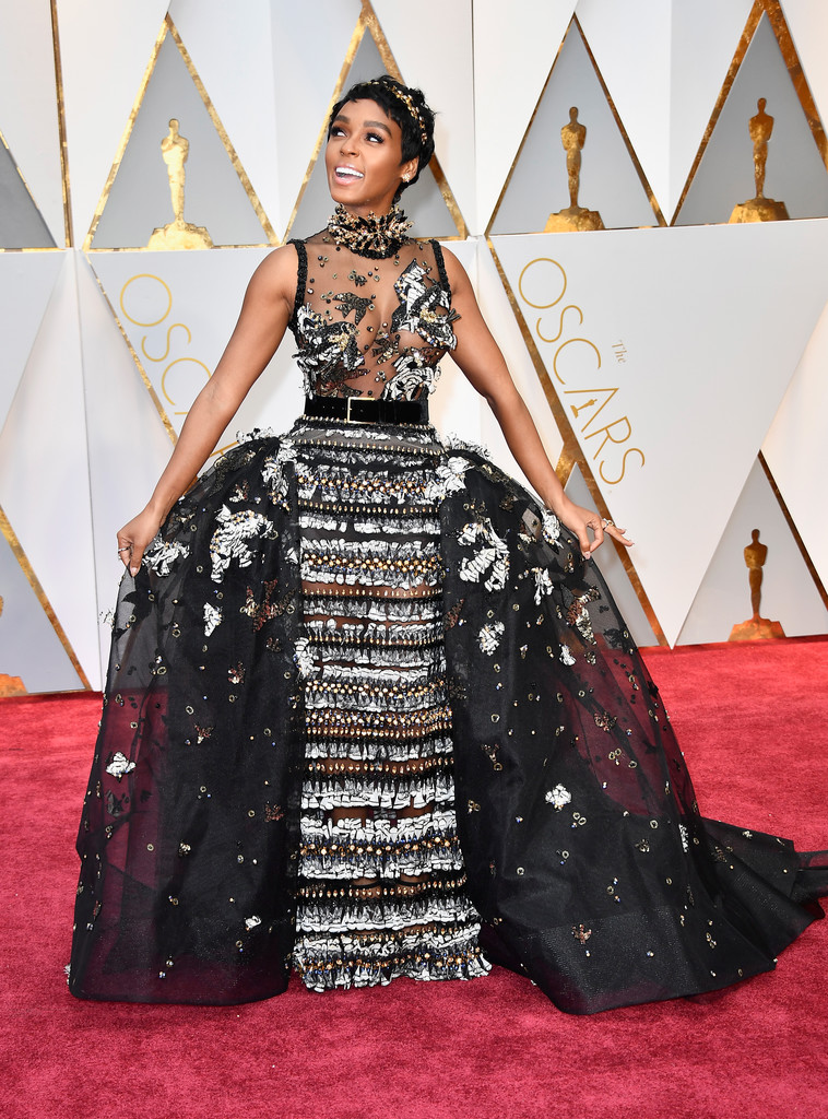Carrie Libro Janelle Monae Beaded Dress - Janelle Monae Looks - Stylebistro