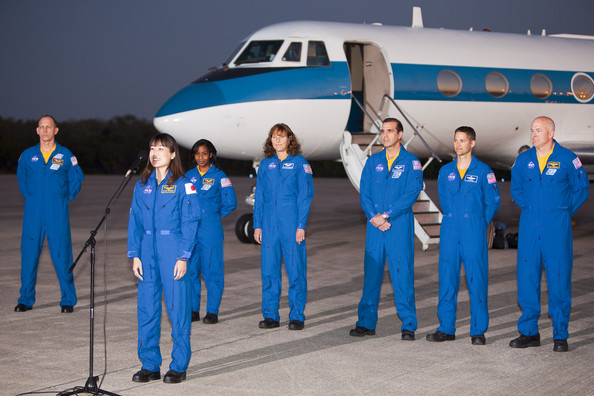 Clayton Anderson Photos Photos - Space Shuttle Astronauts Arrive At