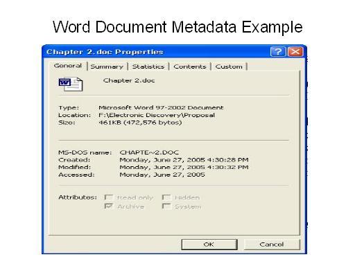 Word Document Metadata Example