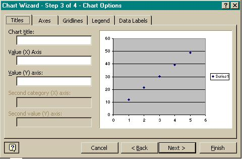Graphing with Excel