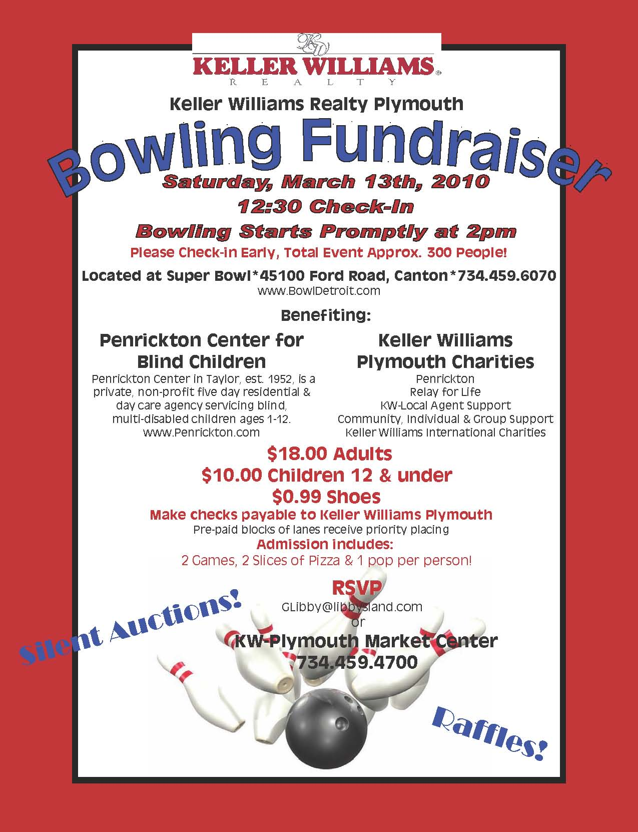 Bowling Fundraiser Flyer Template – Template for Fundraiser