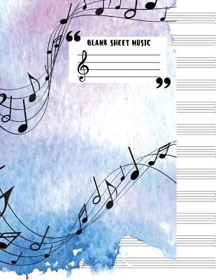 Blank Sheet Music (Large Print) 12 Stave - 85x11 Blank Sheet Music