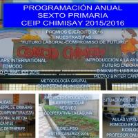 Programación Anual 6º Primaria CEIP CHIMISAY