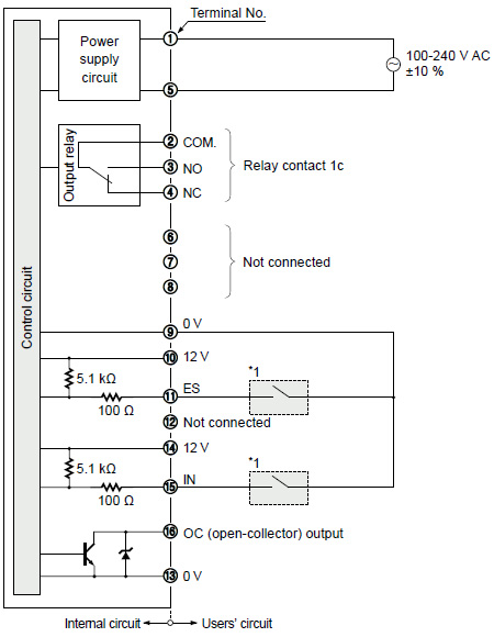 ON / OFF Input Sensor Controller NPS I/O Circuit and Wiring diagrams