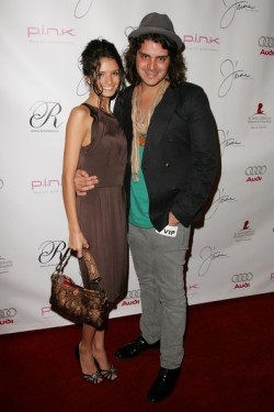 LR Alice Greczyn and Markus Molinari arrive at the debut of Jaime