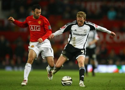 Paul Green in Manchester United v Derby County - Carling Cup Semi Final 2nd Leg - Zimbio