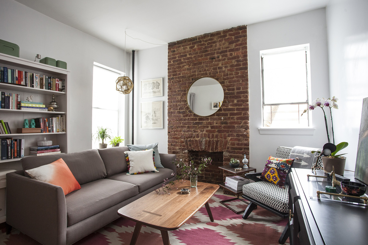 Küche Loft 78 Brooklyn In Brick These Furniture Arrangements Are