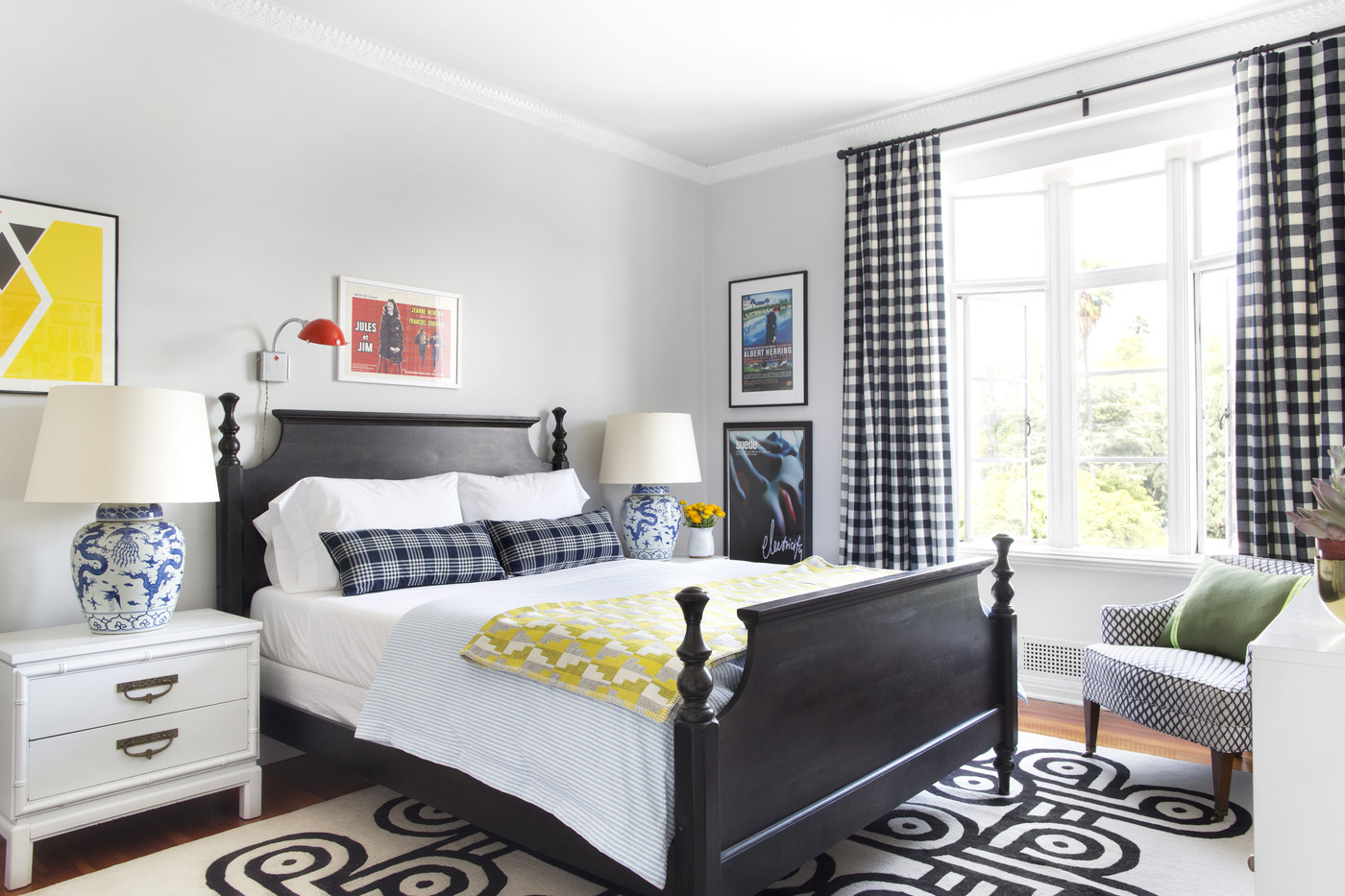 Black And White Bedroom Ideas For Small Rooms Bay Beauty Decorating With Plaid Lonny