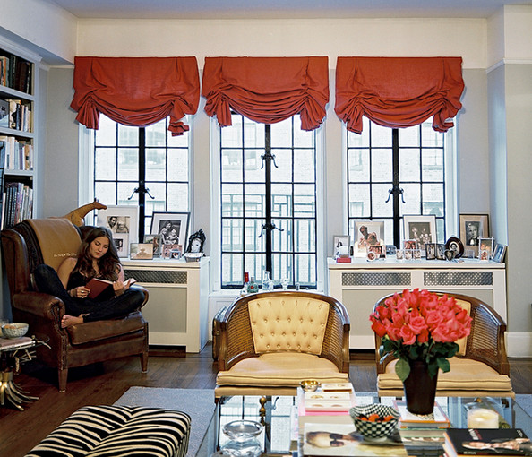 Balloon Curtains Photos, Design, Ideas, Remodel, and Decor - Lonny - balloon curtains for living room
