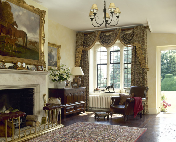 Swag Curtains Photos, Design, Ideas, Remodel, and Decor - Lonny - swag curtains for living room