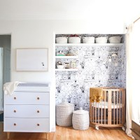 How To Create A Tiny Nursery In A Master Bedroom - Lonny