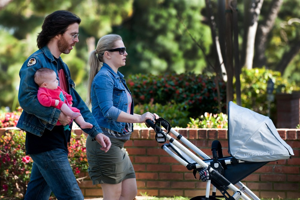 Stroller Baby Born Emily Procter Paul Bryan Photos Emily Proctor Walks With