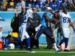 Kenny Britt Of The Tennessee Titans Makes A Catch Against Cassius
